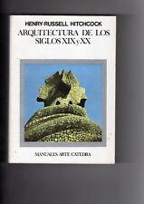 LIBRO ARQUITECTURA DE LOS  SIGLOS XIX Y XX