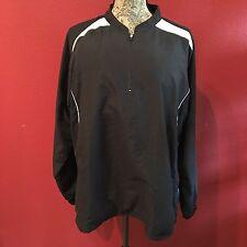 MIZUNO Men's Athletic Pullover Windbreaker Jacket 1/4 Zip Neck- Pockets- MEDIUM