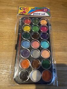 Paint set for kids children art craft drawing colouring with paint brush gift UK