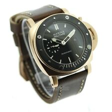 Parnis Marina Militare 47mm Automatic SEAGULL Sub Pam Watch 2017 NEW Rose Gold