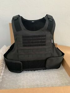 Bulletproof Vest Carrier BODY Armor FREE 3a Plates Made With Kevlar M-XL 2x 3xl