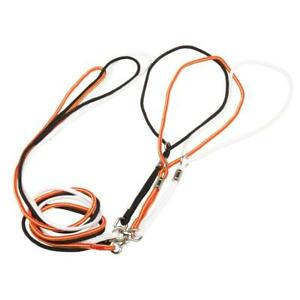 4ft Long 4mm Nylon Rope Dog Slip Lead Head Collar and Lead Rope Black Red White
