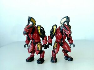 HALO MEGA BLOKS COVENANT ELITE HONOR GUARD CRIMSON COMBAT UNIT LOT
