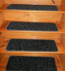 "17 = Step  9"" x 30"" + 1 Landing 30"" x 30"" Stair Treads 100% Wool Carpet  ."