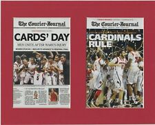LOUISVILLE CARDINALS WINS 2015 NCAA FINAL 4 MATTED PICS OF NEWSPAPER FRONT PAGES
