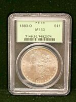 1883 O MORGAN DOLLAR Silver Dollar PCGS MS63 OGH Old Green Holder Unc Coin #2074