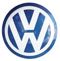 Schild Logo VW Emaille 50 cm - NEU -10 Jahre Garantie Autoschild