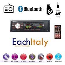 STEREO AUTO BLUETOOTH AUTORADIO VIVAVOCE RADIO FM MP3 USB AUX SD CARD 250w 1din