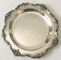 Antique Vintage EGW&S Silverplate Large Round Tray International Silver Company