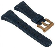 Tw Acier Ceo Tech Rowland Bracelet de Rechange en Cuir Bleu, Croco Optique Pour