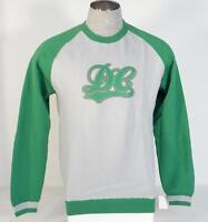 DC Shoes Gray & Green Catcher Raglan Crew Neck Sweatshirt Men's Medium M NWT