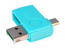 OTG microSD USB Cardreader Kartenleser für Smartphone Tablet SDHC Card Türkis