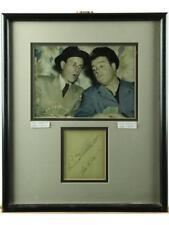 Abbott & Costello Framed Photo & Autographs Lot 139
