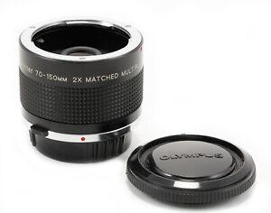 (173) Vivitar 70-150 2x matched multiplier OM mount, caps, crystal clear, Mint