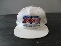 VINTAGE San Francisco 49ers Hat Cap Snap Back White Super Bowl XXIII Football *