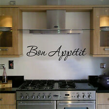 KITCHEN WALL ART STICKER QUOTE BON APPETIT FAMILY DINING HOME DECOR TEXT PHRASES
