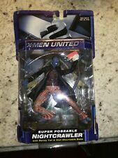 "X2 Nightcrawler X-Men United Movie Super Poseable 6"" Figure ToyBiz 2003"