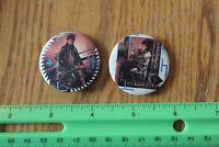 2 Rare Vintage Pin back buttons Duran Duran Band concert badge The Wild Boys
