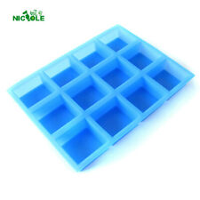 Silicone Soap Mould 12 Holes Cavities Natural Handmade Swirl Loaf Bar Handmade