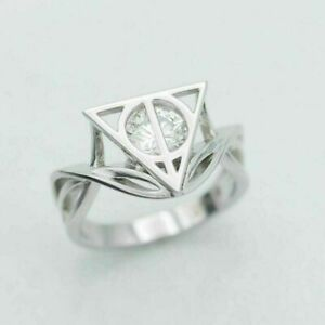 Harry Potter Style 0.50CT White Round Diamond Stylish Ring 925 Sterling Silver