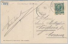 53918 - ITALIA REGNO - Storia Postale: Sass 81ia ISOLATO su CARTOLINA 1907
