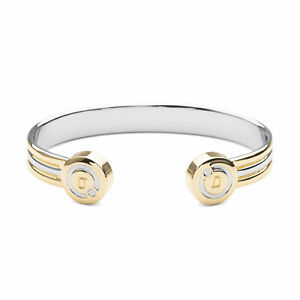 Bioflow Magnetic Therapy Two Tone Duet Bangle - From Bioflow Direct