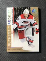 2018-19 SP GAME USED WARREN FOEGELE AUTHENTIC ROOKIE PATCH GOLD #ed 23/49