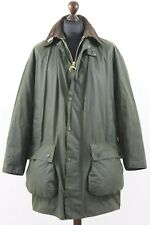 "BARBOUR A200 BORDER Thornproof 6oz Waxed Cotton Green Jacket C 42 "" / 107 cm"