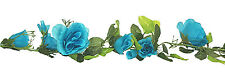 15 ft Rose Garlands ~ MANY COLORS ~ Silk Flowers Wedding Arch Chuppah Decoration
