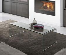 Mesa de centro de diseño fabricada en cristal transparente 35x110x60 cm NUEVA