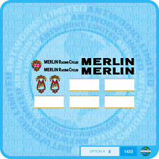 Merlin Racing Cycles (UK) Bicycle Decals Transfers Stickers - Set 8
