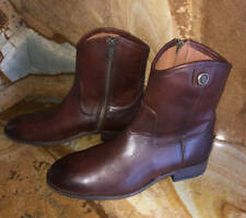 New~Frye Leather Melissa Button Short 2~Zip Ankle Boots~Redwood~6