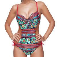 Maillot de bain femme une pièce push up  14 modèles monokini trikini S au XXXL