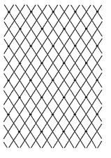 Prägefolder Embossing-Schablone Prägeschablone Gitter diagonal efco 4254037