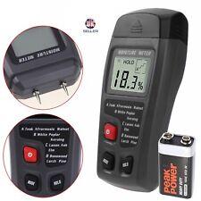 Medidor Tester digital LCD humedad humedad de madera 2Pin Sensor Detector de Humedad Madera