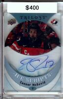Connor McDavid 2015-16 UD Trilogy Ice Scripts Auto Team Canada Oilers #IS-CM