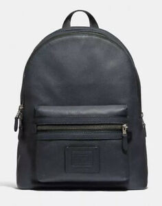 NWT COACH Academy Backpack Men's Backpack  Leather F32235 Midnight Navy $495
