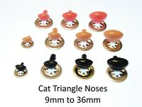 TRIANGLE NOSES with METAL BACKS - Character Animal Safety Nose for Soft Toys