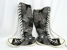 CONVERSE CHUCK TAYLOR ALL STAR Women's Sz 7 Tall Boot Patchwork Leopard Sneakers