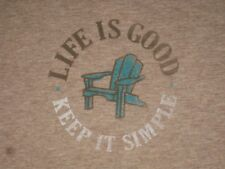 LIFE IS GOOD WOMEN'S S/S  KEEP IT SIMPLE  ADIRONDACK CRUSHER T- SHIRT SIZE M