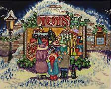 Benaya Christmas Toy Shop Rectangular Tile Bac104553
