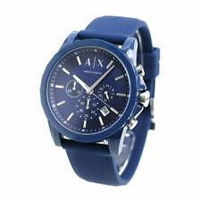 Armani Exchange Mens Chronograph Quartz Watch Silicone Strap AX7107