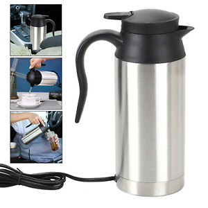 750ML 12V ELECTRIC KETTLE WATER CAR VAN LORRY TRAVEL PORTABLE CAMPING  Brand new