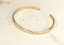 Dainty Gold filled hammered cuff bracelet