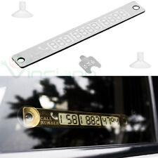 Scheda carta avviso fluorescente numero telefono macchina auto doppia fila notte
