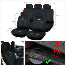 9 Pcs Black Sports Car Accessories Protector Seat Cover Fits Most Brand Vehicles