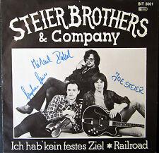 Single / STEIER BROTHERS & COMPANY / MIT AUTOGRAMM / RARITÄT /