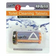TOILET CLEANING TABLETS 5PK PREVENTS LIMESCALE BUILD UP CLEAN