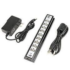 10 PORTE HUB velocità HUB USB PER TV FOTOCAMERA stampante scanner telefono con Android Nero