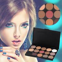 15 COLOURS EYESHADOW PALETTE Smokey Eye Neutral Nude/White/Brown/Black/Chocolate